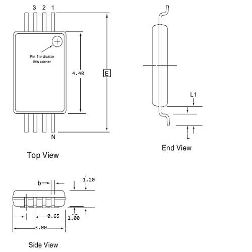 SPI-065-TSSOP008-044030-01CE - Socket Adaptor | Dediprog